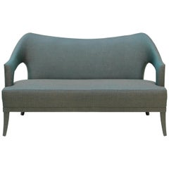 Brabbu Nº 20 Sofa and Loveseat in Blue and Gray Twill