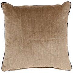 Brabbu Villutus Pillow in Tan and Brown Velvet