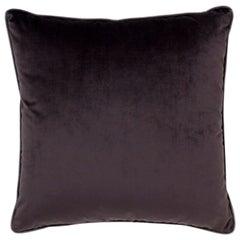 Brabbu Yo Pillow in Charcoal Gray Velvet