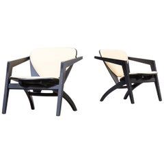 1970s Hans Wegner GE-460 Chairs for GETAMA Set of Two