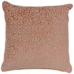 Brabbu Eclectic Pardus Pillow in Orange Animal Print Twill