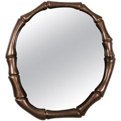 Brabbu Haiku Mirror with Copper Leaf & Translucent Varnish Finish