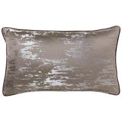 Brabbu Bismuth Pillow in Gray Satin