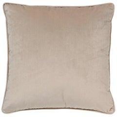 Brabbu Frior Pillow in Beige Velvet