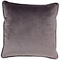 Brabbu Henna Pillow in Gray Velvet