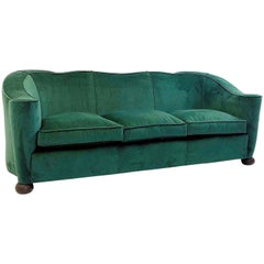 Sofa Three-Seat by Jules Leleu, France 1940's - New Upholstery
