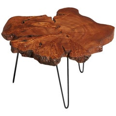 Ash Tree Live Edge Coffee Table, Live Edge Table, Rustic Edge End Table