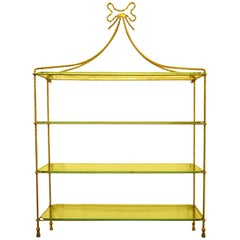 Regency Style Gilt Metal Wall Shelves
