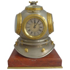 Industrial Series Antique Guilmet Divers Helmet Clock Compendium