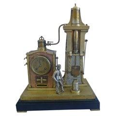 Antique French Industrial Foundryman Mantel Clock by Guilmet