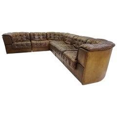 Large De Sede DS-11 Modular Patchwork Sofa, 1970s, Switzerland