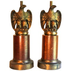 Pair of 'Traditional' Grosfeld House Style Eagle Table Lamps