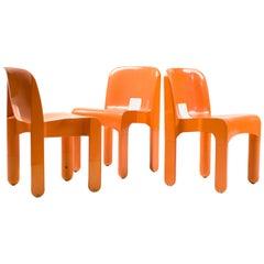 Set of Three Joe Colombo Sedia Universale Chairs