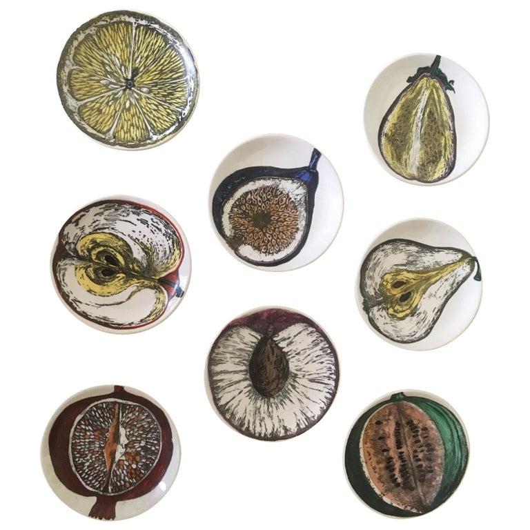 Piero Fornasetti Set of Eight Coasters Sezioni Di Frutta Pattern, circa 1960s