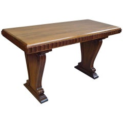 Stylish Early 20th Century Walnut Centre Table in the Art Deco Style