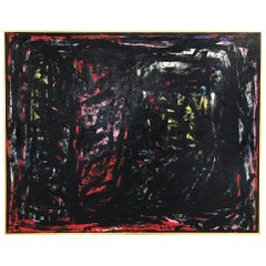 John O'Hara, Black Winged Bird, Encaustic Painting