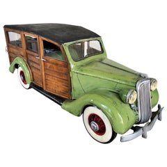 """Green Woodie Wagon"" Sculpture by Paul Jacobsen"