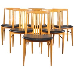 Set of Six Austrian Mid-Century Modern Wiesner Hager Chairs,1960s