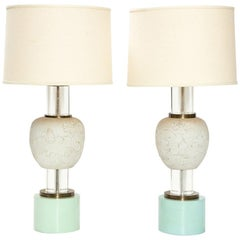 "Rare Pair of Custom Table Lamps by William ""Billy"" Haines"