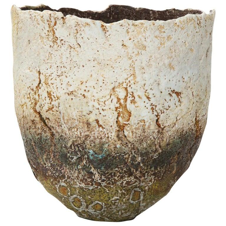 Studio-Built Ceramic Vessel by Rachel Wood For Sale