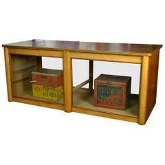 Art Deco Wooden Shop Counter, Shop Cabinet, Vitrine