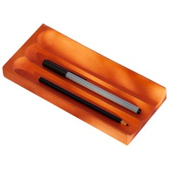 Flute Pencil Tray in Martian Red