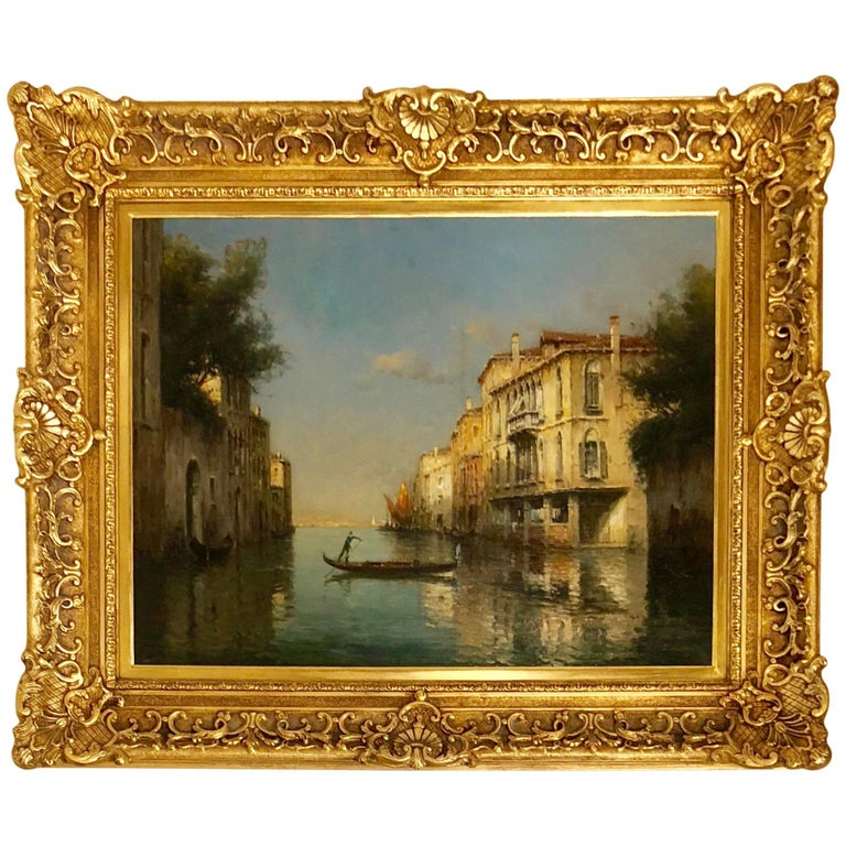 """A Canal in Venice"" by Antoine Bouvard For Sale"