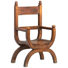 Fruitwood Armchair, England, circa 1860