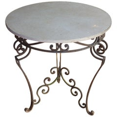 Antique Art Nouveau Marble Garden Table