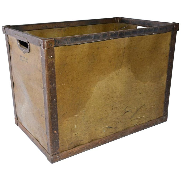 Large Vintage Mail Bin For Sale