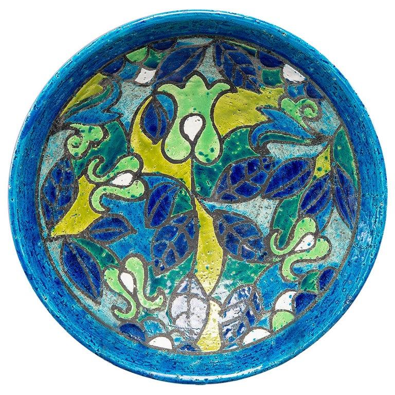 Bitossi for Rosenthal Netter Large Blue Ceramic Bowl