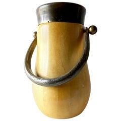 Aldo Tura Lacquered Parchment Goatskin Champagne Wine Cooler