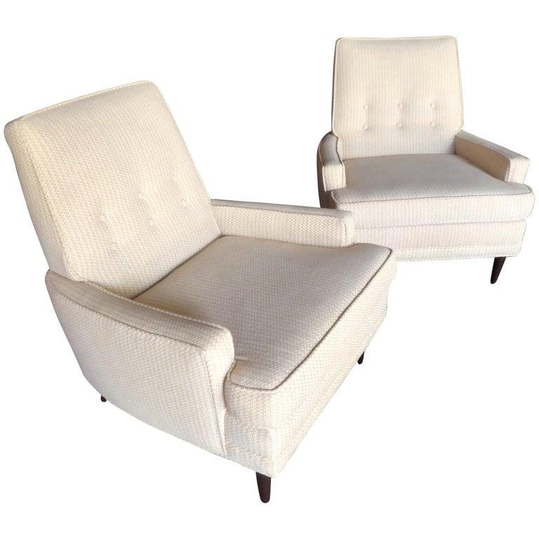 Pair of Kroehler Furniture Upholstered Armchairs