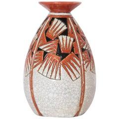 Art Deco Charles Catteau Boch Freres Keramis Geometric Ceramic Vase