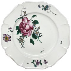 Strasbourg Faience Floral Plate