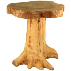 Modern Indonesian Wood Tree Trunk Side Table
