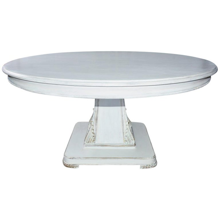 'Regency' Style Round Pedestal Dining Table