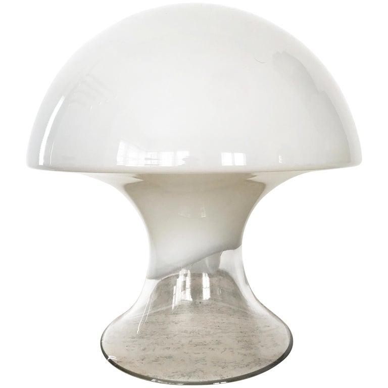 Gino Vistosi Murano Glass Mushroom Lamp
