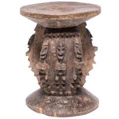 Dogon Stool with Nommo Figures