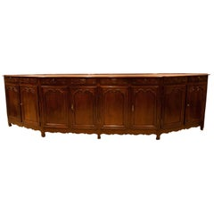 Very Large Elm Enfilade, Italy circa 1800 in the Louis XV Style
