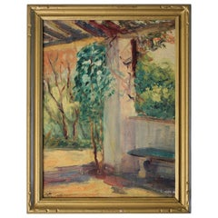 Listed San Diego California Artist Bess Gilbert Oil Painting Balboa Park