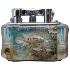 Luxury 1950s Dunhill Aquarium Oversized Table Lighter Made in England Chrome