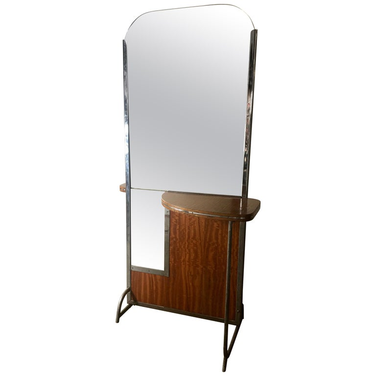 Art Deco Machine Age Double Sided Theater Dressing Room Table,Vanity Mirror