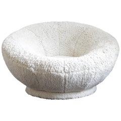 Pair of Plush Fabric Mushroom Chairs