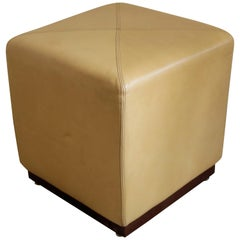 Pair of Camel Leather Stools