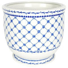 Blue and White  Porcelain Cachepot by  Giulia Mangani