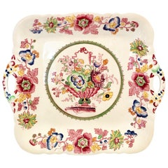 "1930s English Ironstone China Cake Platter ""Strathmore"" By Mason's"