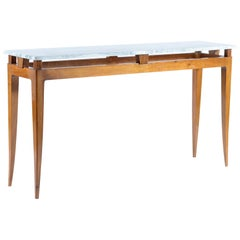 Midcentury Italian Console Table Marble Top, Florence, 1940