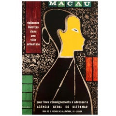 Original Vintage Asia Travel Poster - Macau Unique Holidays In An Oriental City