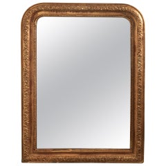 French 19th Century Louis Philippe Gilt Wall Mirror